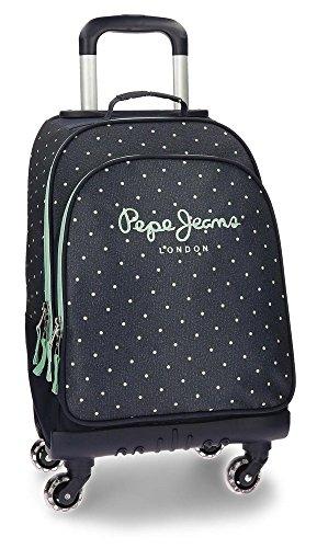 Pepe Jeans Denim Dots Mochila Escolar, 44 cm, 29.57 Litros, Azul