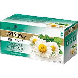 Twinings of London Camomile & Spearmint Herbal Infusion Tea, 25 Bags