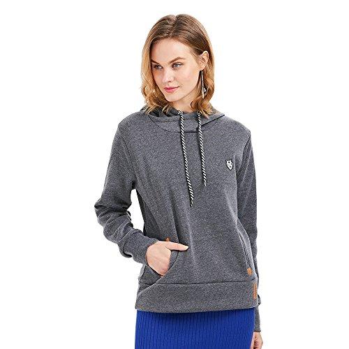 Hannea Casual Long Sleeve Hooded Pocket Design Women Hoodie