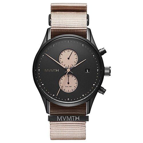 MVMT Voyager Desert schwarz/ beige Nylon Nato Herren Armbanduhr