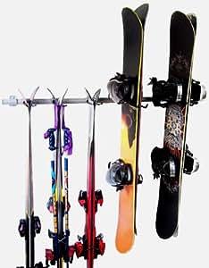 Ski & Snowboard Rack by GORGEOUS GARAGE INC