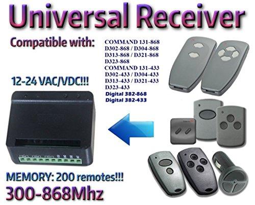 2-Kanal Funkmpfänger 12-24 VAC/DC. Kompatibel mit Marantec D302-868/D304-868/D313-868/D321-868, D302-433/D304-433/D313-433/D321-433, D382-868/ D382-433/ D384-868, D384-433 Fernbedienungen