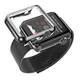 Apple-Watch-Band,-Biaoge-Steel-Milanese-Loop-Replacement-Wrist-Band-with-Plated-Case-for-Apple-Watch-(Black-42mm)