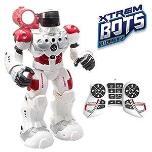 Xtrem Bots- Guardian BOT Inteligencia Artificial. Alarma Anti-Intrusos Robot Control Remoto de Juguete. Robotica para niños (Blue Rocket XT380771)