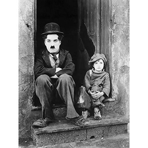 Silent Movie Still Charlie Chaplin The Kid Photo Extra Large XL Wall Art Poster Print Film Immer noch Fotografieren Wand Poster drucken - Charlie Chaplin-film Poster
