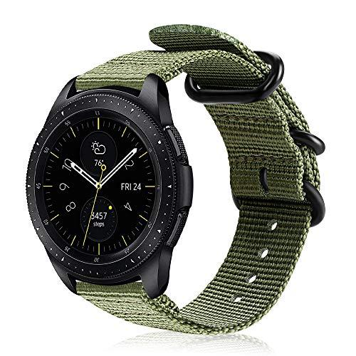 FINTIE Cinturino per Galaxy Watch 42mm/Galaxy Watch Active/Active 2/Gear Sport/Gear S2 Classic/Huawei Watch 2, 20mm Morbido Nylon...