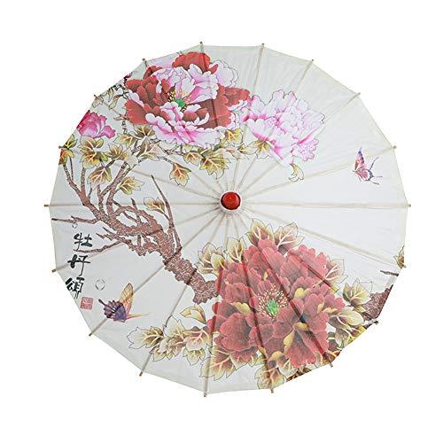 ChYoung Japanisch chinesisch Regenschirm Sonnenschirm büttenpapier Regenschirm für hochzeitsfeiern, Fotografie, kostüme, Cosplay, Dekoration (Japanischen Tanz Kostüm)