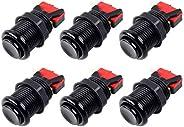 "EG STARTS 6x American Style Standard Pulsanti arcade commutabili Happ Type 30mm Push Button 187"" (4,8 mm)"