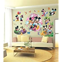 imagen pegatinas de pared de mickey mouse pegatinas de pared de mickey mouse de disney para