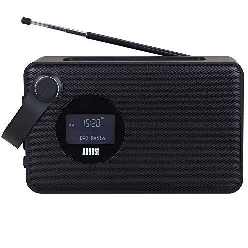 August MB415 – Radio Alarma con Altavoz Bluetooth NFC – Altavoz Inalámbrico para dispositivos Bluetooth con Radio FM/DAB+/DAB – Lector USB y Tarjetas SD