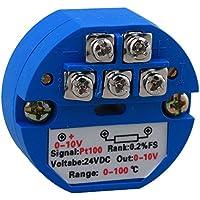 Yibuy RTD PT100 - Transmisor de sensores de temperatura (0 a 100 Celsius, salida de 0 a 10 V)