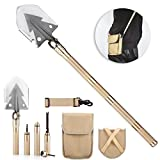 Overmont 74cm/30'' Military Multi Army Purpose Tool with Carrying Pouch Stainless Steel Spade Aluminum Handle Survival Folding Shovel for Camping Hiking Outdoor Tactical Activities