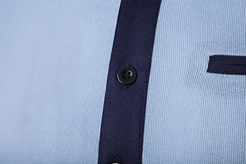 Rcool Neue heiße Männer Sport-Kurzschluss-Hülse drehen-unten Kragen-Oberseiten-Polo-Hemd-T-Shirts T-Stück-Oberseiten Hellblau