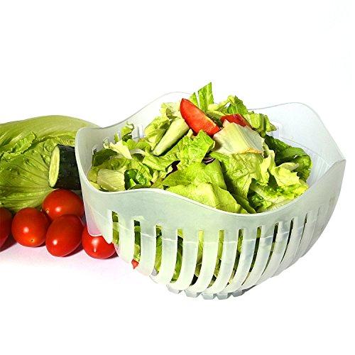 Salat Cutter Schüssel 60Sekunden Salat Maker Obst Gemüse Schüssel cutter-fast frischen Salat Schneide, Salat Chopper