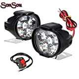SONSOU 6 LED SHILAN Waterproof Fog Light for Bikes with on/off Handlebar Switch