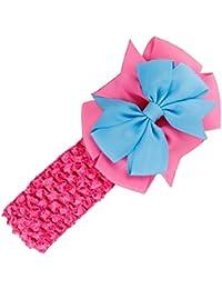 Stirnbaender - SODIAL(R)Stirnbaender Bowknot Haar Accessoires Maedchen Kleinkind Haarband (Rose rot)