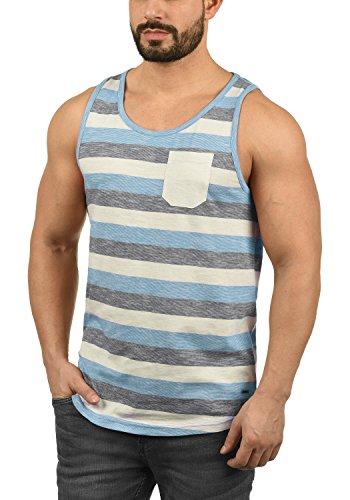 !Solid Whicco Herren Tank Top mit Rundhalsausschnitt aus 100% Baumwolle Regular Fit, Größe:XL, Farbe:Azure Blue (2203)