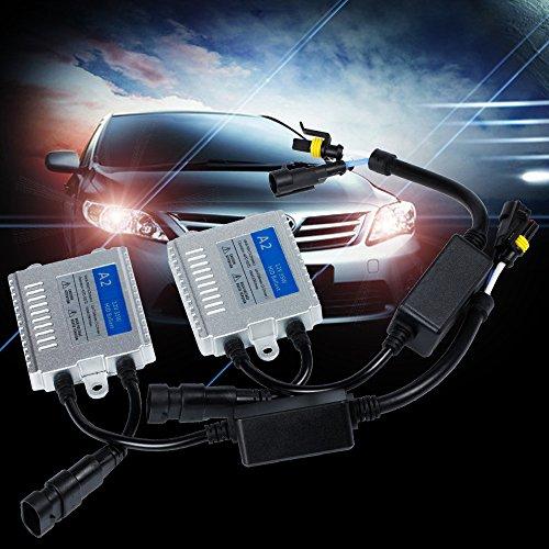 Mihaz luminosa eccellente 12V 35W H1 H3 H4 H7 H11 9005 9006 6000K Xenon HID sostituzione della luce zavorra faro anteriore della nebbia del corredo della luce delle lampadine di conversione (2pcs 35W AC Ballast) - 9006 Xenon Hid Fari