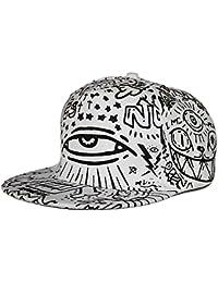 LOCOMO Abstract Art Graffiti Big Eye Painting Baseball Cap FFH252BLK