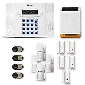 Alarme maison sans fil DNB 4 à 5 pièces mouvement + intrusion + sirène extérieure solaire