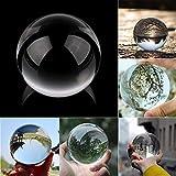 Gaddrt Kristallkugel Klarglas Kristallkugel Heilung Kugel Fotografie Requisiten Lensball Decor Geschenk (B 50MM)