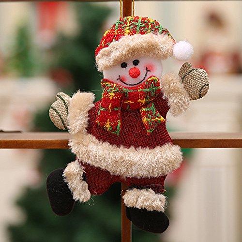 Producto navideño, JiaMeng Adornos de Navidad Regalo Papá Noel Muñeco de Nieve Reno Juguete Muñeca Colgar Decoraciones