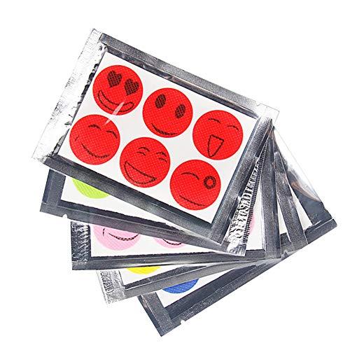 collectsound 60 pcs/lot d'été Smiley Anti Mosquito Insectifuge Stickers Patches – Couleur aléatoire
