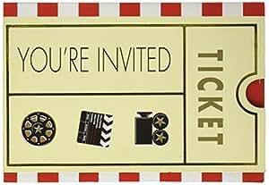 Amscan International plié d'invitation Hollywood, Lot de 8