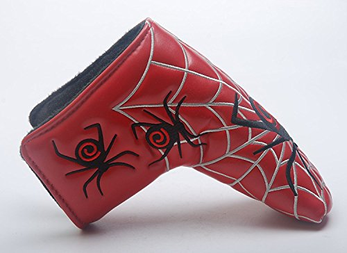 Beehive Filter Spider Web Design Golf Blade Putter Kopfbedeckungen Kopfbedeckung Passen Alle Marken TaylorMade Titleist Scotty Cameron Ping Callaway Blade Putter (Rot) (Headcover Driver Adams)