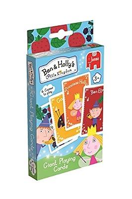 El pequeño reino de Ben y Holly - Baraja de cartas gigantes con 4 juegos (Jumbo 17545) (a partir de 3 años) por Ben & Holly