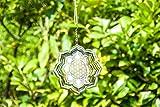 Blume des Lebens Lotus Mobile Ø 15 cm aus Edelstahl