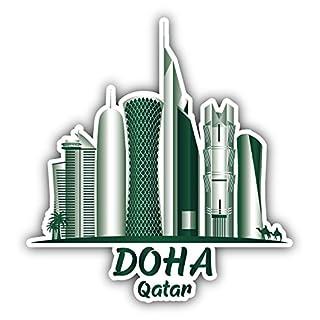 Doha Qatar Travel Art Decor Vinyl Sticker Aufkleber 12 x 12 cm