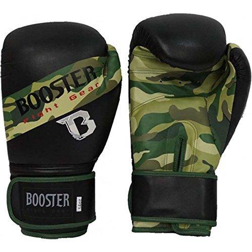 Booster Boxhandschuhe Camo PU für Männer und Damen | Boxen - MMA - Kickbox Handschuhe aus hochwertigem Kunstleder für Training und Sparring (12 OZ)