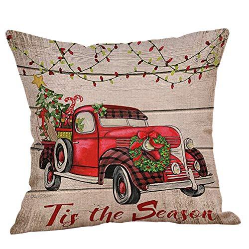 Moonuy Kissenbezug Weihnachten Sofa Cover Happy Festival Kissenbezüge Dekorative Kissenbezüge Leinen Sofa Kissenbezug Home Decor Kissenbezug
