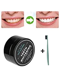 Teeth Whitener, Transer® Teeth Whitening Powder Natural Organic Activated Charcoal Bamboo Toothpaste Teeth Whitener