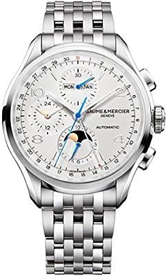 Baume & Mercier Men's 43mm Steel Bracelet & Case Automatic Analog Watch 10328