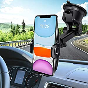 Mpow Mobile Phone Holder Car Mobile Phone Holder for Car Smartphone Holder Car Mobile Phone Holder Dashboard Mobile Phone Holder for iPhone 11 / XS/Galaxy 10/9 / 8 / HTC/Google
