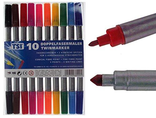40-4x-10-doppelfasermaler-zweispitz-filzstifte-dicke-und-duenne-spitze