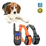Jiuhuazi  [Aktualisierte Version] wasserdicht Kragen 330 Yards Remote Training Hundehalsband mit Ton/Vibration/Kragen