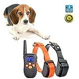 [Versione aggiornata] Jiuhuazi collare 330 iarde remoto formazione collare di cane impermeabile con segnale acustico/vibrazione/collare