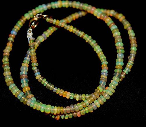 Welo Fire Opal 3-3,5mm glatt Perlen Form 40,6cm neclaces ()