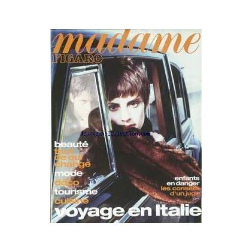 MADAME FIGARO du 21/09/1996 - VOYAGE EN ITALIE - BEAUTE - MODE - DECO - TOURISME - CUISINE - ENFANT EN DANGERS.