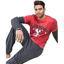 GISELA Pijama de Invierno para Hombre de Snoopy
