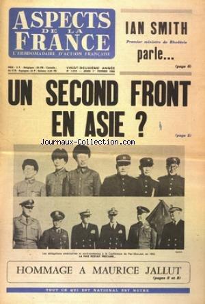 ASPECTS DE LA FRANCE [No 1010] du 01/02/1968