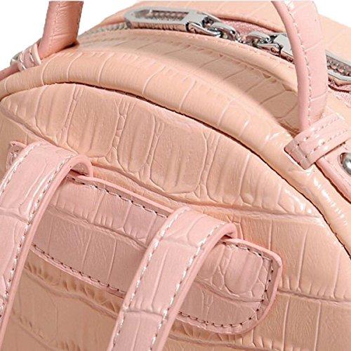 Zaino Casual Quilted Di Modo Di Disegno Semplice Delle Donne,Pink Pink