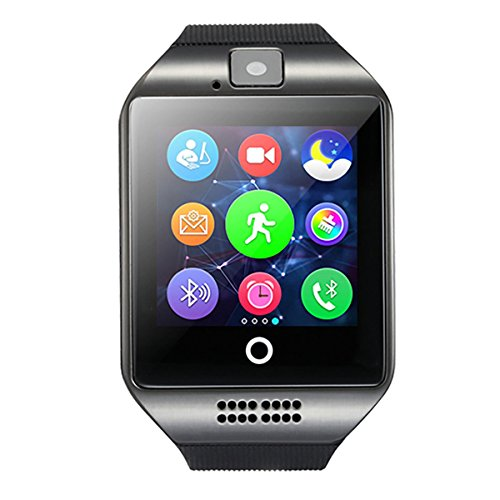 HealthMax HT Q18 Black Smartwatch Compatible With Micromax Canvas Play 4G Mobiles