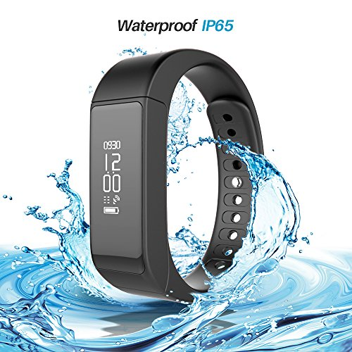 iWOWN i5 Plus Smart Armband Bluetooth 4.0 Fitness Tracker Smart Armbanduhr Herzfrequenzmesser Schrittzähler Sport Wristband Wasserdicht mit OLED Touchscreen Schlafmonitor Kalorienzähler Anrufe SMS SNS Sedentary Alert Remote Shoot Anti-Verloren für Android IOS App