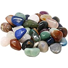 Edelstein Trommelsteine im Mix, 1 kg, große Steine 3-4 cm, 35-40 Steine
