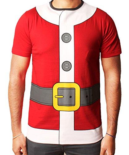 Mens ragazze bambino di Natale T-shirt di Natale della novità Renna dell'elfo della Santa Snowman HoHoHo Santa vestito Tee Red SB (circa 7/8 anni)
