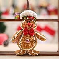 Goldyqin Hombre de Pan de Jengibre de Navidad Adornos de Navidad Navidad árbol Accesorios